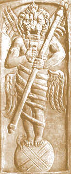 Old Serpent. Ahriman the Zoroastrian Evil Spirit or Satan