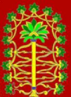 Assyrian Tree of Life. Or is it two trees, a palm with a vine or fig growing around it? Male and Female?